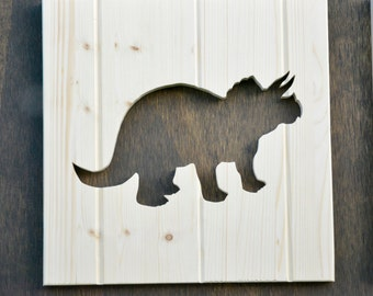 "Triceratops Silhouette Dinosaur Cutout 13"""
