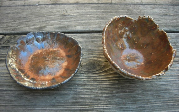 ON SALE Burnt Umber Clay Dishes