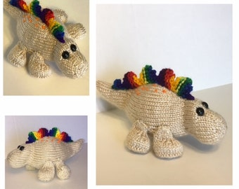 Dinosaur with Spikes, Knitting Pattern