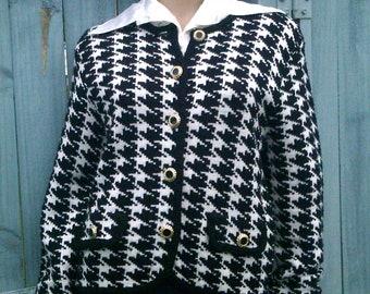 St Michael vintage houndstooth short jacket