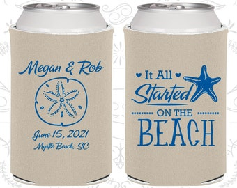 It all started on the beach, Beach Wedding Favors, Tropical Wedding Favors, Starfish Wedding Favors, Starfish Favors (414)