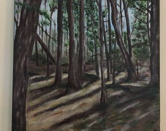 Backwoods Park original acrylic