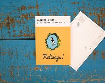 "Postcard ""Simon says,"" the adventure begins""/ Holidays"