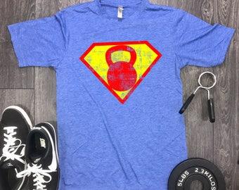 superhero Workout Shirt, Best Workout Shirts, Mens Gym Shirt, Fitness Motivation, Kettlebell Shirt, Superhero Gym Shirt, Gym Shirt Mens