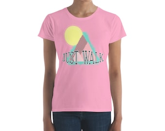 Just Walk Short-Sleeve Women's T-Shirt - Walking Instead Of Jogging - Exercise, Fitness, Weight Loss, Healthy Lifestyle Shirt