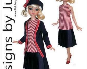 "PDF Contemporary Pattern for 16"" Ellowyne Wilde Dolls Tonner"