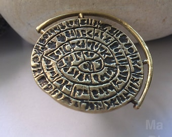 Χειροποίητο δαχτυλίδι οξειδωμένος ορείχαλκος  / Handmade brass oxidized ring