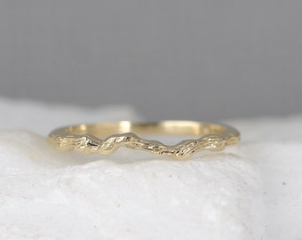 Twig Ring -14K Yellow Gold - Wedding Band - Stacking Rings - Branch Ring - Nature Inspired Jewellery - Promise Rings - Made in Canada