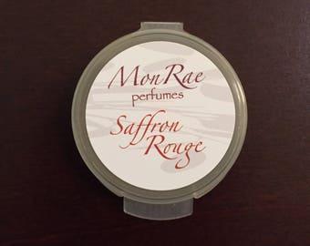 Saffron Rouge solid perfume sample