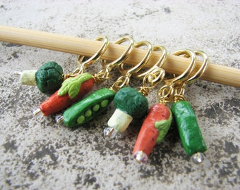 Eat Your Veggies - Non-Snag Stitch Markers