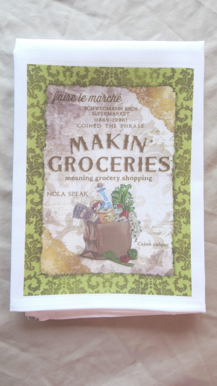 Makin groceries towel kitchen towel tea towel cajun zoom m4hsunfo
