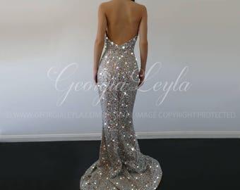 Sparkling Gown adorned with Swarovski Crystals - GeorgiaLeyla Divine Gown