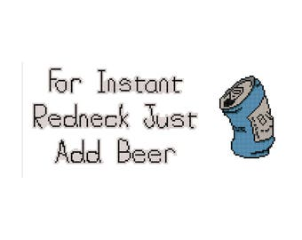 Instant Redneck Cross Stitch PDF Pattern