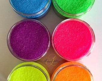 """Neon - Glow under """"black light"""" - Sanding Sugar Set"""