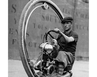 Poster - vintage monowheel - 1931 photography - fine art gallery