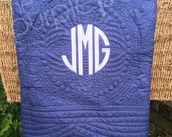 Monogrammed Baby Quilt, Baby Blanket, Baby Shower, Gift, Monogrammed Blanket, Personalized Blanket