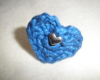 "Crochet ""heart"" ring"