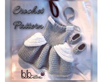 Cinderella Princess Dress Set -  PATTERN ONLY - Crochet - Sizes: 0-3 month, 3-6 month, 6-9 month, 9-12 month, 12-18 month, 18-24 month