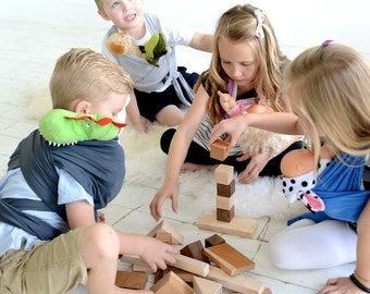 Wooden Blocks - Montessori Toys - Educational Toys - Baby Blocks - Wooden Toys - Baby Shower