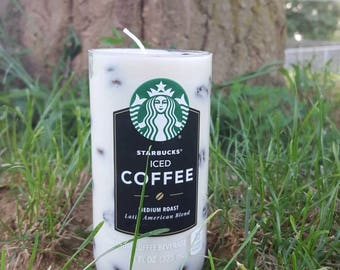 Starbucks Cup Candle - All Natural Soy Candle with Coffee Beans - Coffee Lover