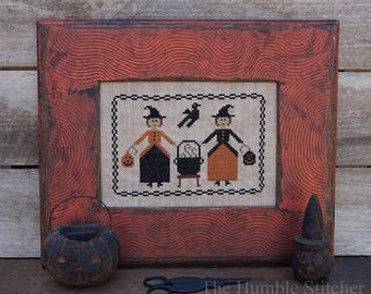 Double Double...Primitive PAPER Cross Stitch Pattern By The Humble Stitcher