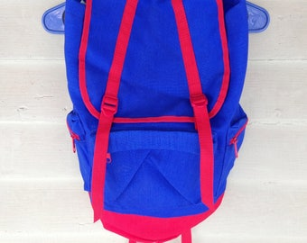 90's Blue and Red Backpack