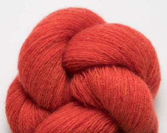 Bittersweet Red Orange Recycled Cashmere Lace Weight Yarn, CSH00277