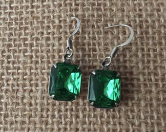 Swarovski Green Earrings