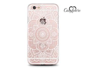 iPhone 6 case, iPhone 6s case, iPhone 7 case, iPhone 8 Plus case, Clear Rubber case, Galaxy S7 case, Samsung Galaxy cases, Henna Mandala Art