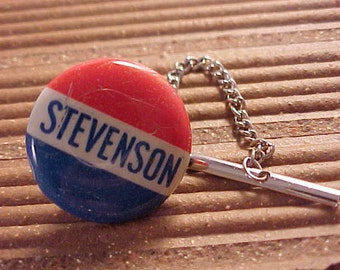 Tie Tack - Adlai Stevenson Political Campaign Pin Free Shipping To USA