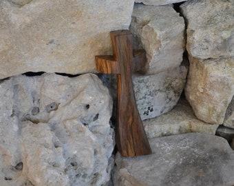 Holz Kreuz; Rustikale Dekor; Holz-Wand Kreuz; Nussbaum Wand Kreuz; Militärische Abschlussgeschenk; Graduierung; Bestätigung; Kostenlose Boden Versand USA