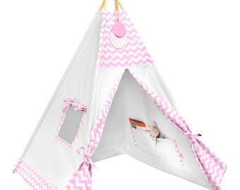 Tipi Set - Kids Play Tent Teepee - Candy