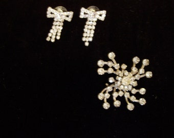 Sparkle,Sparkle,Sparkle.....brooch and earrings