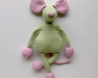 Plush green mouse... very fluffy soft