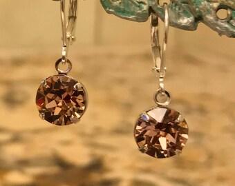 The Sparkling Pink Swarovski Earrings