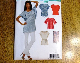 BOHO Tunic Top / Yoked GYPSY Blouse w/ Flutter Sleeves / Romantic Peasant Top - All Sizes (8 - 18) - UNCUT ff Sewing Pattern New Look 6939