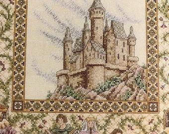 SUMMERSALE Teresa Wentzler, Vintage, 1992, The Castle Sampler, Designed by,  Just Cross Stitch, Item # 108, Counted Cross Stitch, Pattern