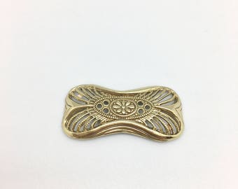 Print in light brass key