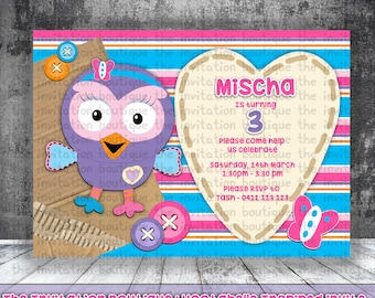 Hootabelle Inspired Invitation  - Giggle and Hoot