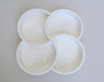 White Dansk Plastic Quad Tray/Bowl/Platter