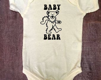 Grateful Dead Dancing Bear Baby Bear Bodysuit