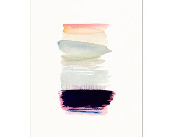 Watercolor Wash Abstract. Simple Modern Home Decor. Pastel Colors. Contemporary Apartment Art Print.