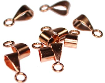 Copper Bail with Closed Ring 14x5mm (Pkg of 10) (910CU-03)