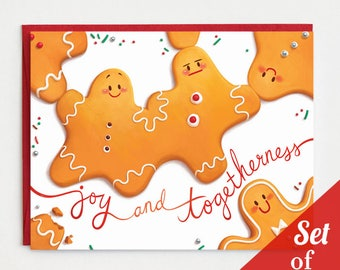 Joy and Togetherness - Set of 6 Christmas Cards