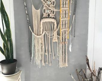 A Well-Lit Path: Macrame Wall Hanging