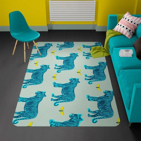 rug tigers rug modern rugs carpet vintage animals rug. Black Bedroom Furniture Sets. Home Design Ideas