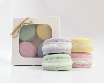 Four Piece Macaroon Soap Box Set