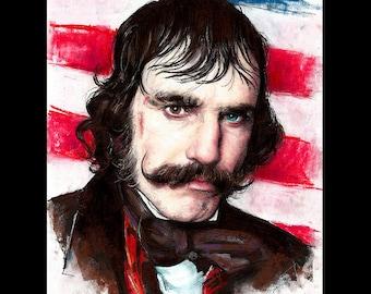 "Print 11x14"" - Bill The Butcher - Gangs Of New York Daniel Day-Lewis Mustache Dark Art Pop Art Knife Victorian Leonardo DiCaprio Antique"
