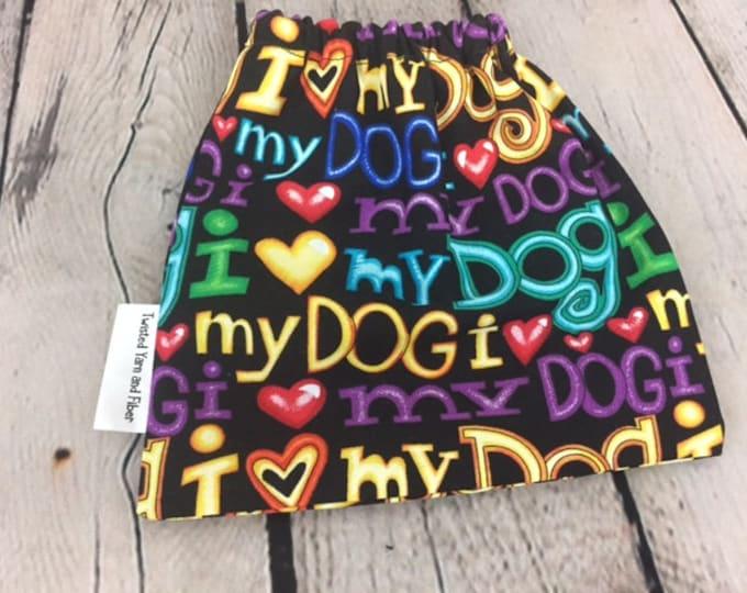 I Love My Dog, Yarn Ball bag, Yarn Bowl, Yarn Holder