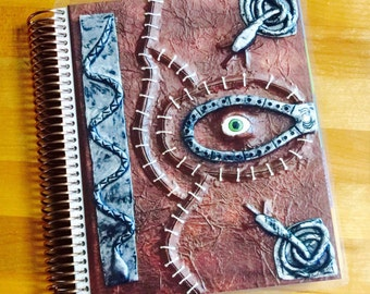 Front and Back Cover Set Hocus Pocus Inspired Spell Book Halloween for use with Erin Condren or Happy Planner